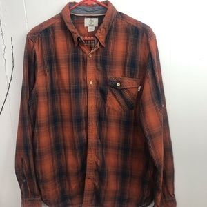 Timberland Men's Size M Shirt pull up sleeves